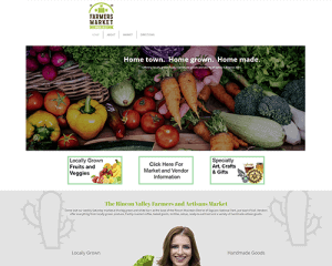 Rincon Valley Farmers Market Website Design