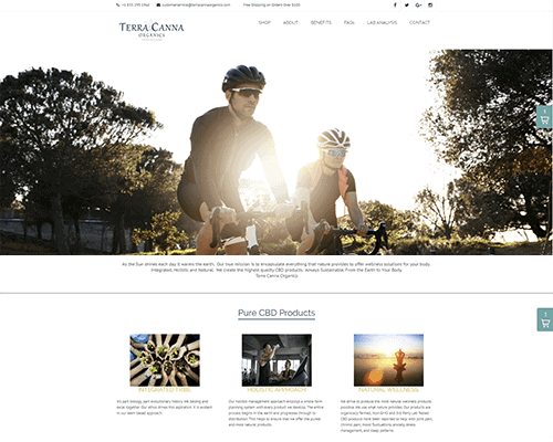 Website Design for TerraCanna Organics